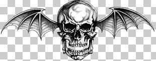 Hail To The King: Deathbat Avenged Sevenfold Tattoo Logo PNG
