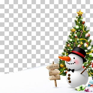 Winter Snowman Poster Christmas PNG