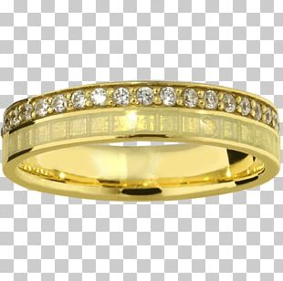Gold Wedding Ring Silver Bangle Bling-bling PNG