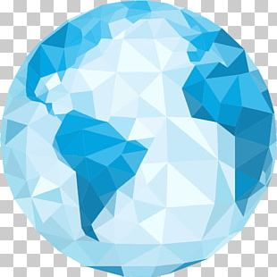 Globe Earth Polygon PNG