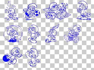 The Purple Smurfs YouTube The Smurfs Black And White Art PNG