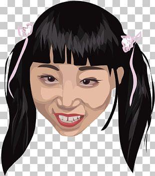 Black Hair Smile Face Hair Coloring PNG