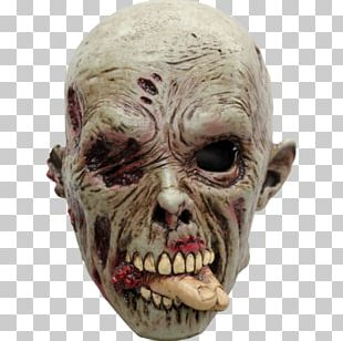Latex Mask Flesheater Halloween Costume PNG
