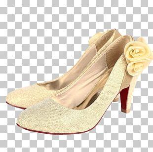 Shoe Yellow High-heeled Footwear PNG