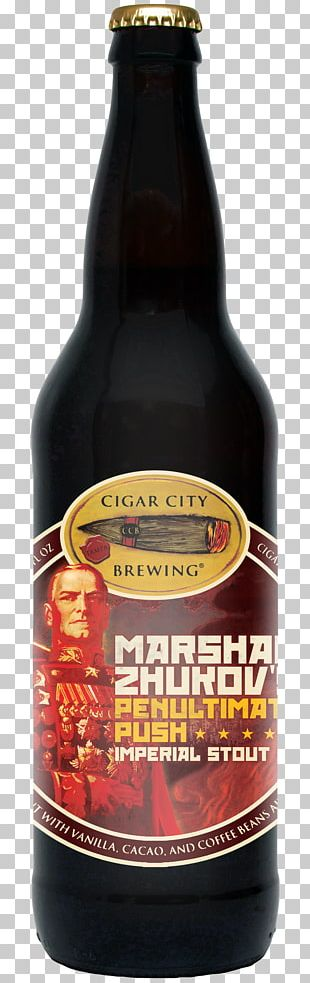 Georgy Zhukov Ale Cigar City Brewing Company Beer Russian Imperial Stout PNG