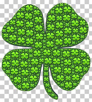 Four-leaf Clover Shamrock Saint Patrick's Day PNG