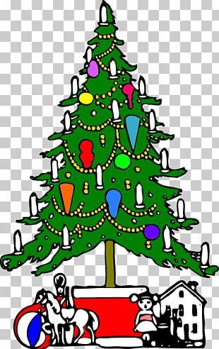 Christmas Tree Christmas Day Santa Claus Graphics PNG
