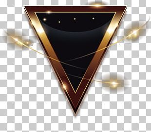 Golden Triangle Light Geometry PNG