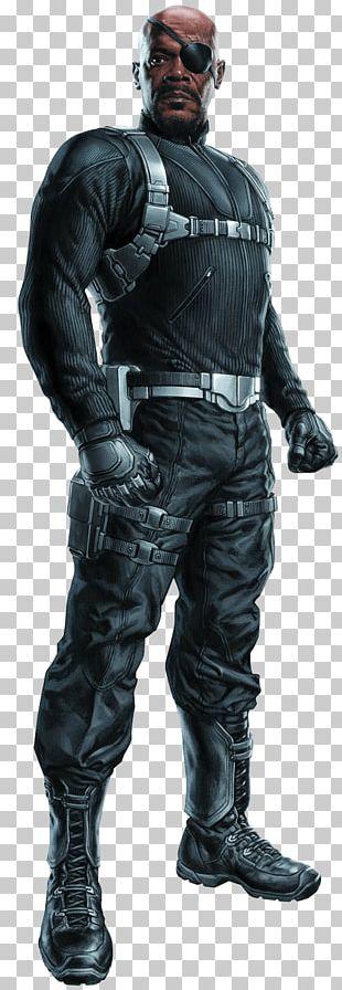 Samuel L. Jackson Nick Fury Captain America The Avengers Marvel Cinematic Universe PNG