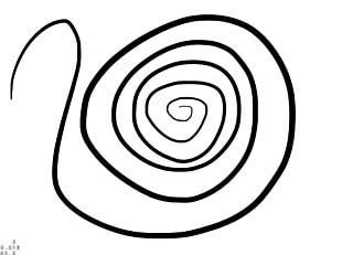 Black And White Circle Area Line Art PNG