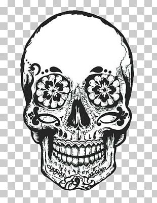 Calavera Day Of The Dead Drawing Skull PNG