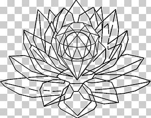 Drawing Crystal Painting Line Art Floral Design PNG