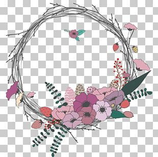 Wedding Invitation Wreath Flower Bouquet PNG