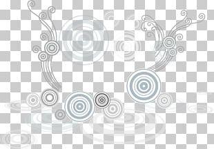 White Graphic Design Circle Pattern PNG