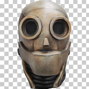 Latex Mask Halloween Costume Robot PNG