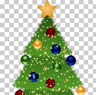 Santa Claus Christmas Tree Gift PNG