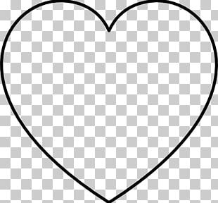 Black And White Heart Area Pattern PNG