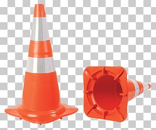 Cone Orange Color Red Green PNG