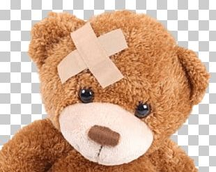 Teddy Bear With Band Aid On Head PNG