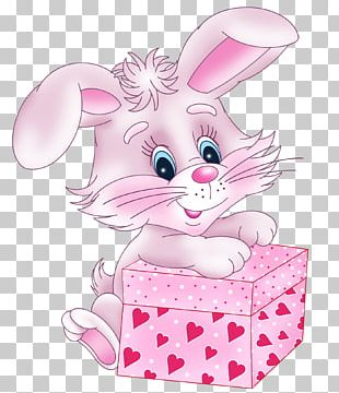 Valentine's Day Rabbit Cuteness Gift PNG