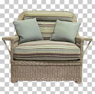 Wicker Chair Couch Cushion Furniture PNG