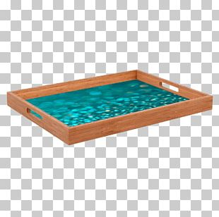 Wood Tray Rectangle /m/083vt Turquoise PNG