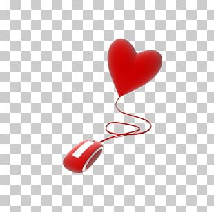 Computer Mouse Love Valentines Day Heart PNG