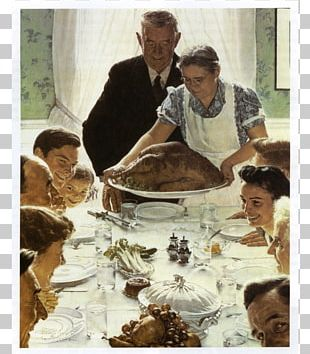 Freedom From Want Norman Rockwell Paintings Thanksgiving Art PNG