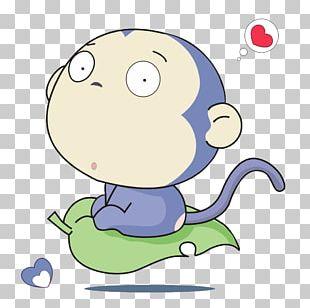 Monkey Moe Cuteness Cartoon PNG