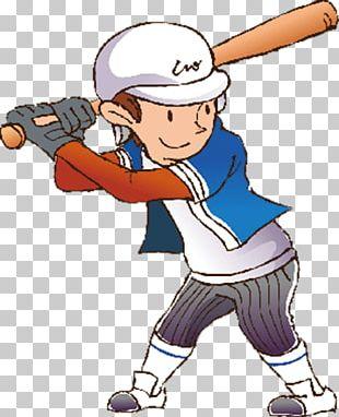 Cartoon Athlete Baseball PNG