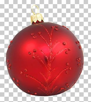 Christmas Ornament Red PNG
