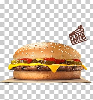 Hamburger Cheeseburger Burger King Barbecue Bacon PNG