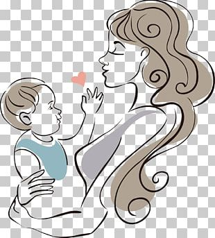 Mother Drawing Infant Child PNG