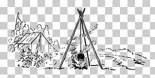 Borders And Frames Black And White Campfire Drawing Camping PNG