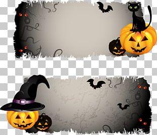 Halloween Jack-o'-lantern Banner PNG