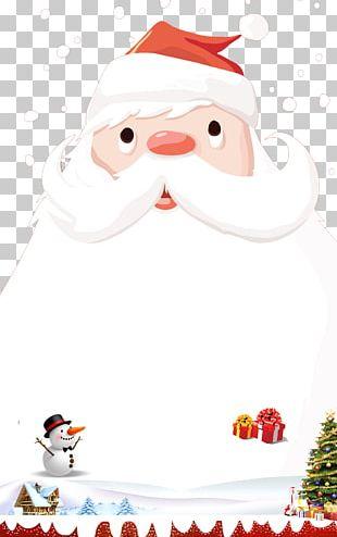 Santa Claus Christmas Ornament Poster PNG