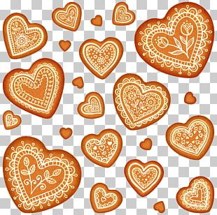 Cookie Gingerbread Heart Shape PNG