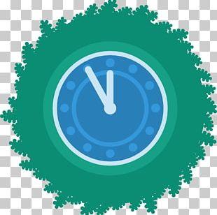 Electric Blue Clock Aqua PNG