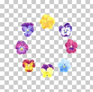 Flower Garland Blue Pansy PNG