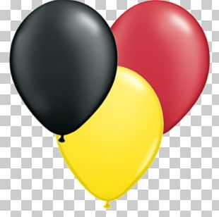 Yellow Toy Balloon Red Party PNG