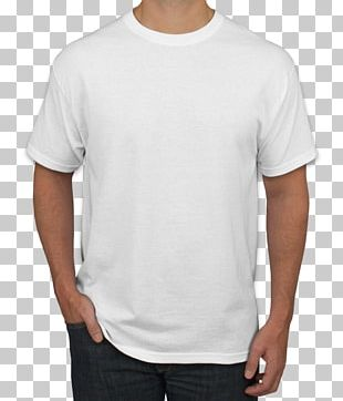 T-shirt White Sleeve Hanes PNG