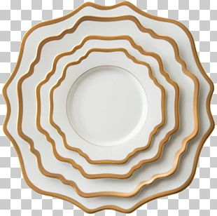 Tableware Plate Porcelain Gold PNG