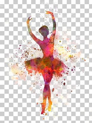 Ballet Dancer Watercolor Painting PNG