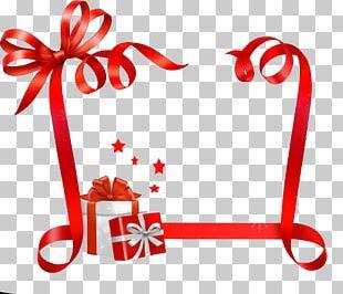 Paper Christmas Name Tag Ribbon Sticker PNG