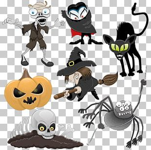 Halloween Cartoon Illustration PNG