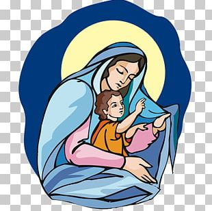 The Madonna Holding Baby Jesus Clipart   Nativity Clipart