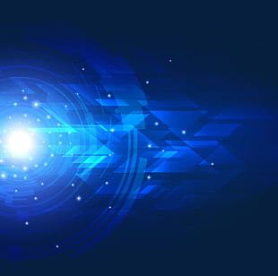 Science And Technology Blue Light Effect PNG