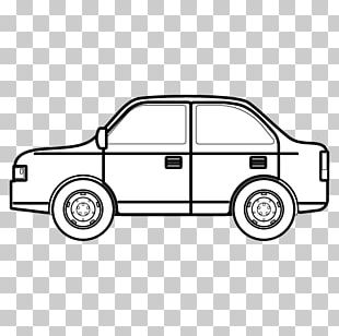 Car Door Black And White Monochrome Painting PNG