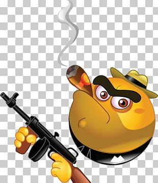 Emoticon Gangster Smiley PNG