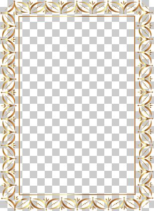 Gold Border Frame Transparent PNG